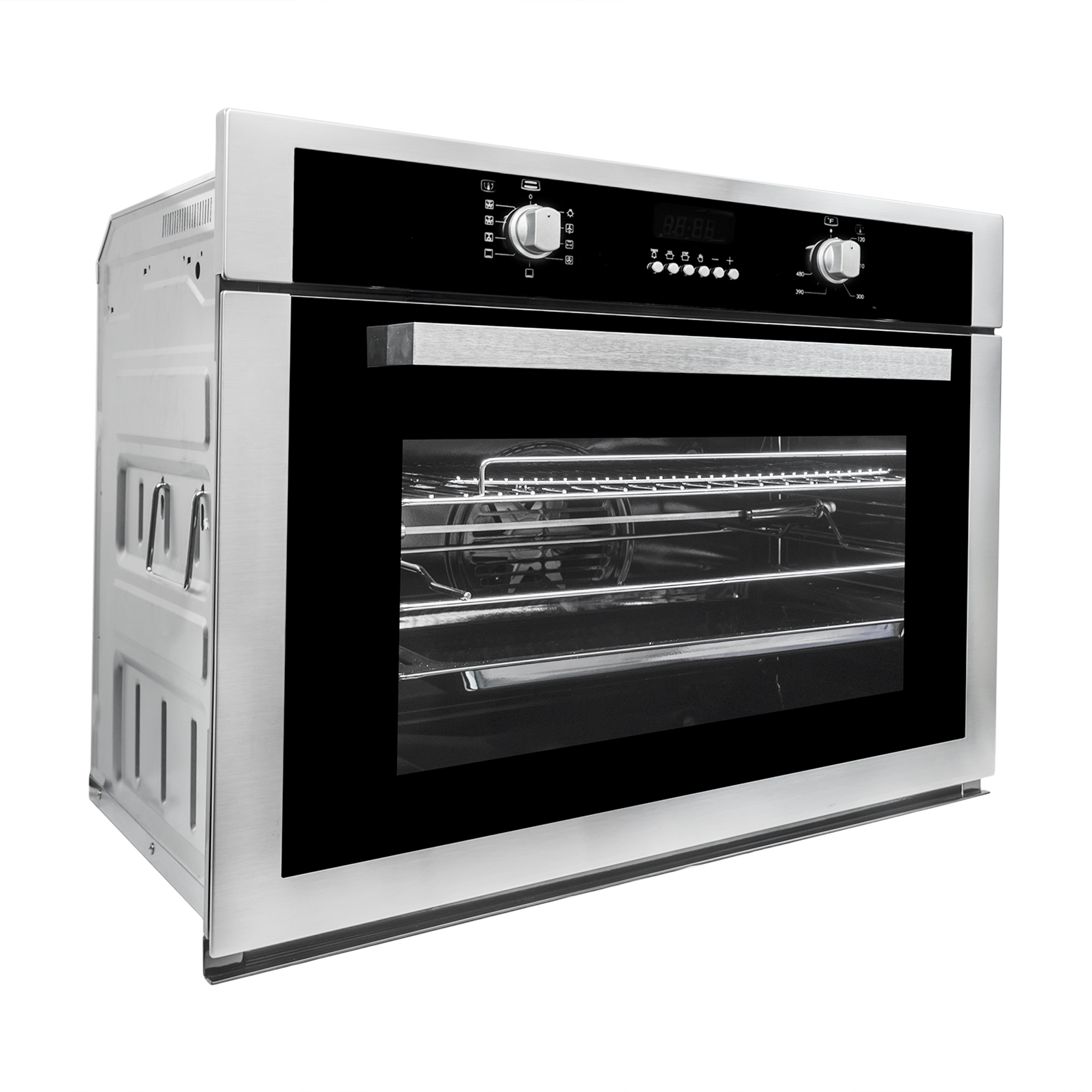30 In 2 8 Cu Ft Single Electric Wall Oven With Rotating