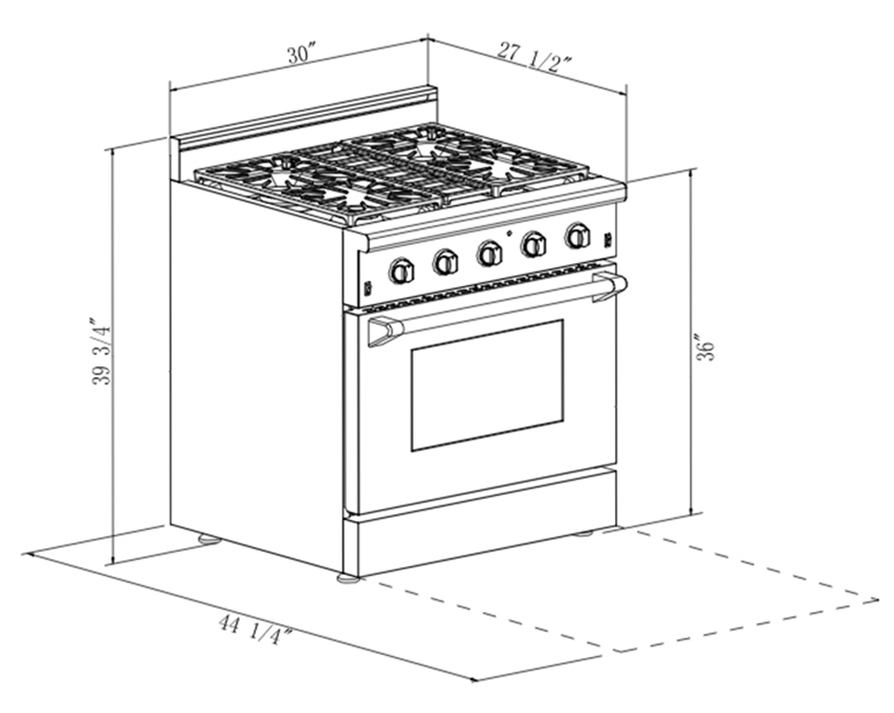 30 in 4 2 cu ft stainless steel gas range with convection