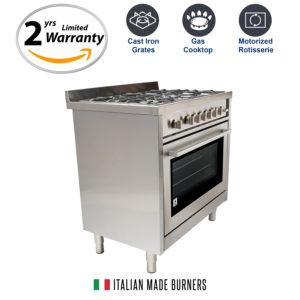 Gas Range With 5 Italian Made Burners And Rotisserie