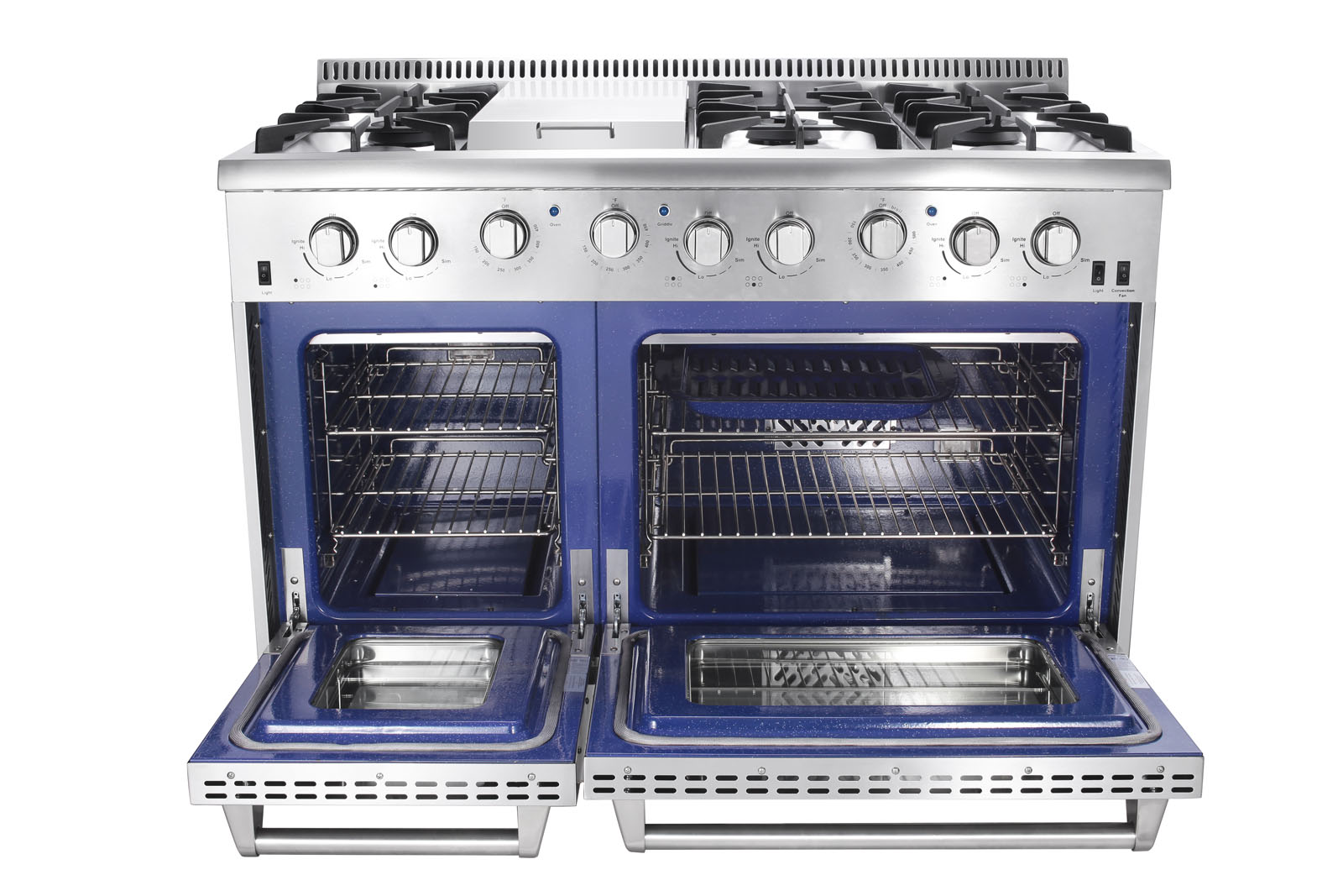 48 In 6 7 Cu Ft Double Oven Gas Range With Convection