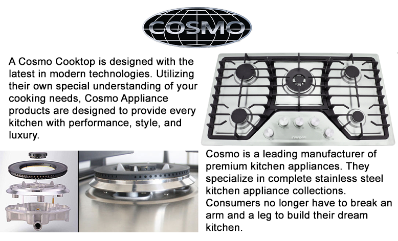 A Cosmo Cooktop is designed with the latest 