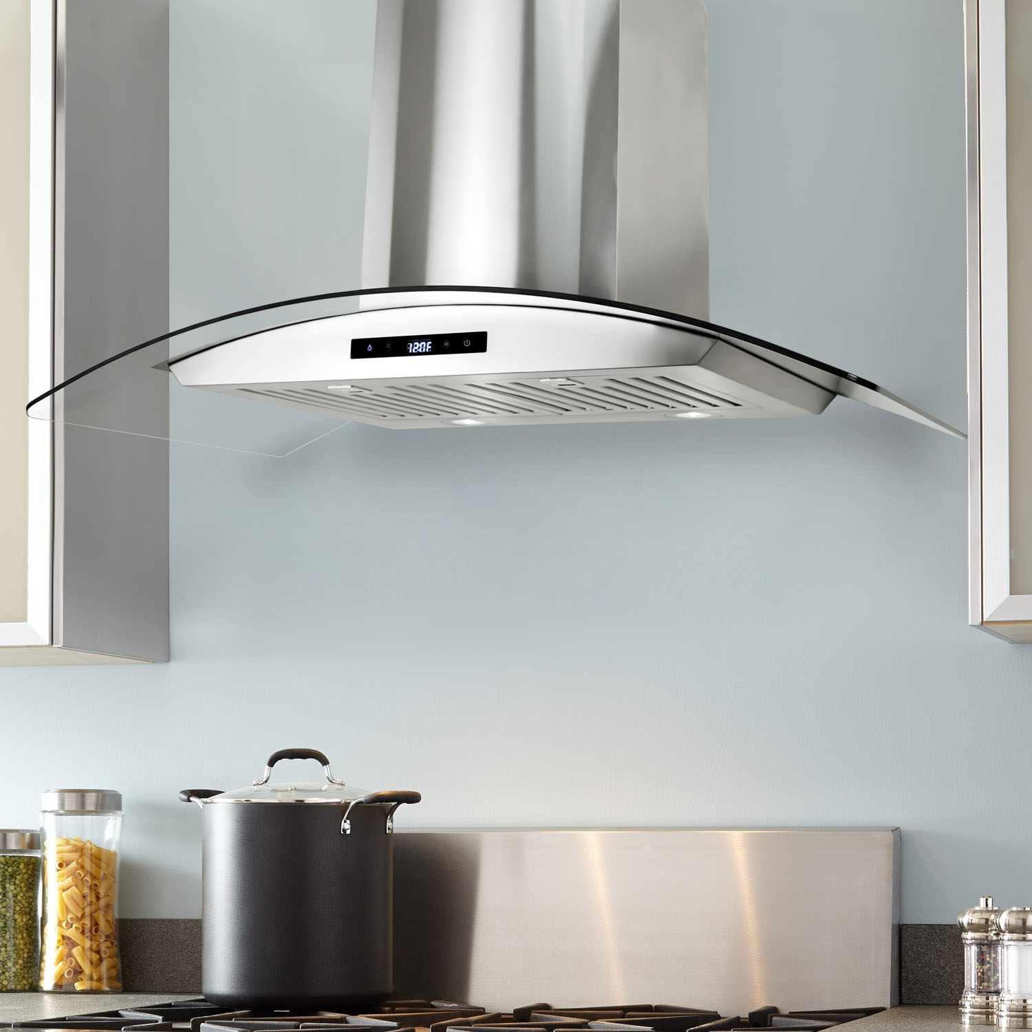 36 In Wall Mount Range Hood With Touch Controls Cosmo