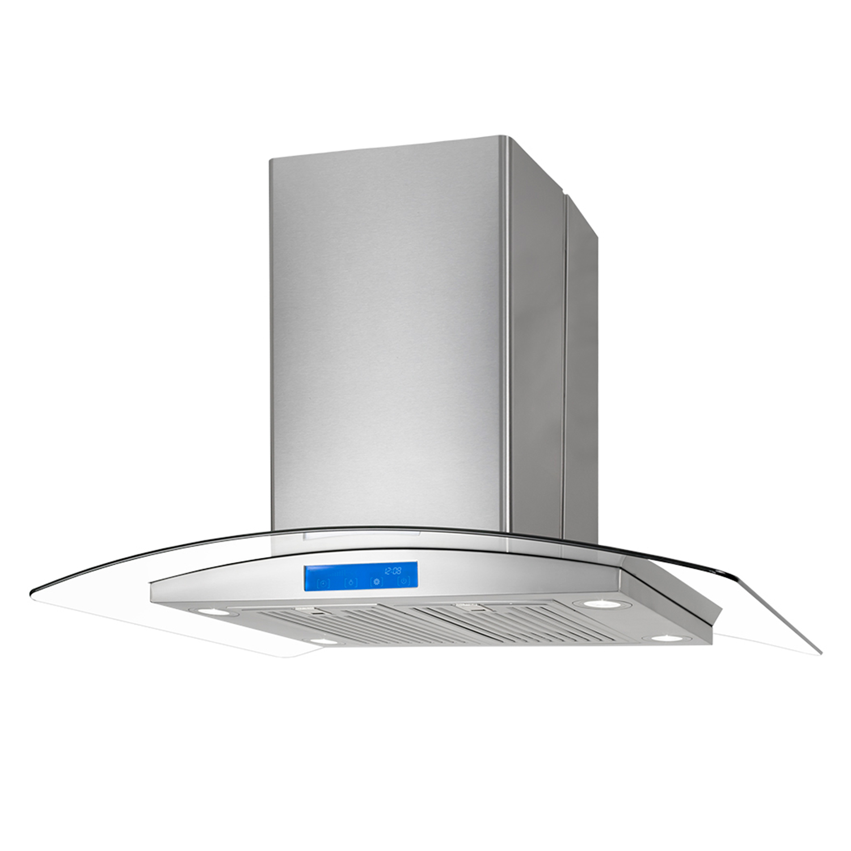 cosmo appliances 668ics 36 island range hood. Black Bedroom Furniture Sets. Home Design Ideas