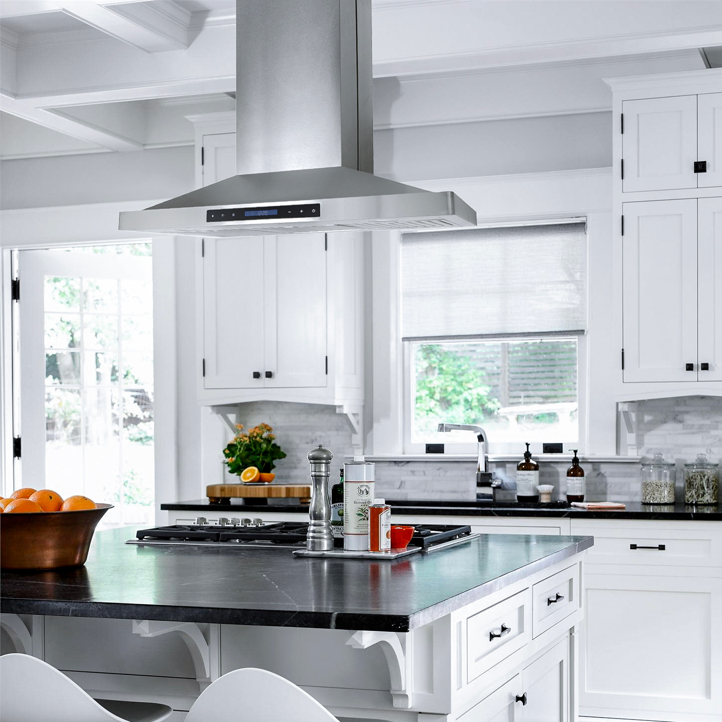 36 In Ducted Island Range Hood Cosmo Appliances 663iss75
