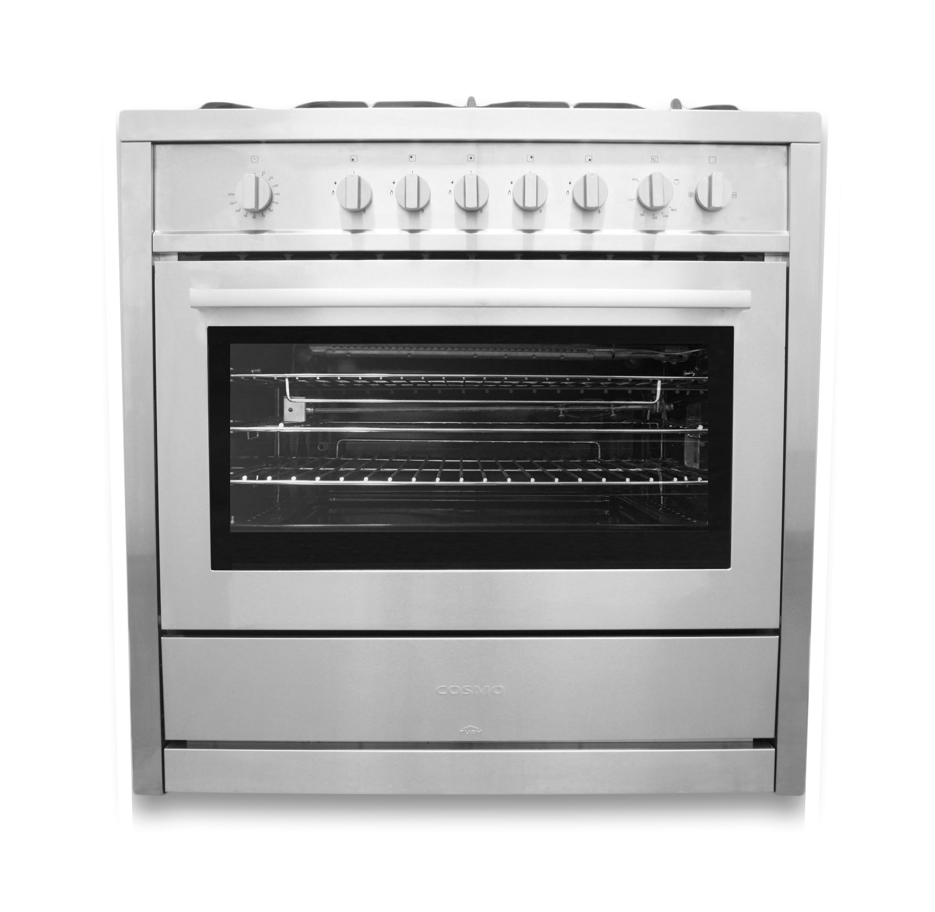 36 In 3 8 Cu Ft Stainless Steel Gas Range With Rotisserie