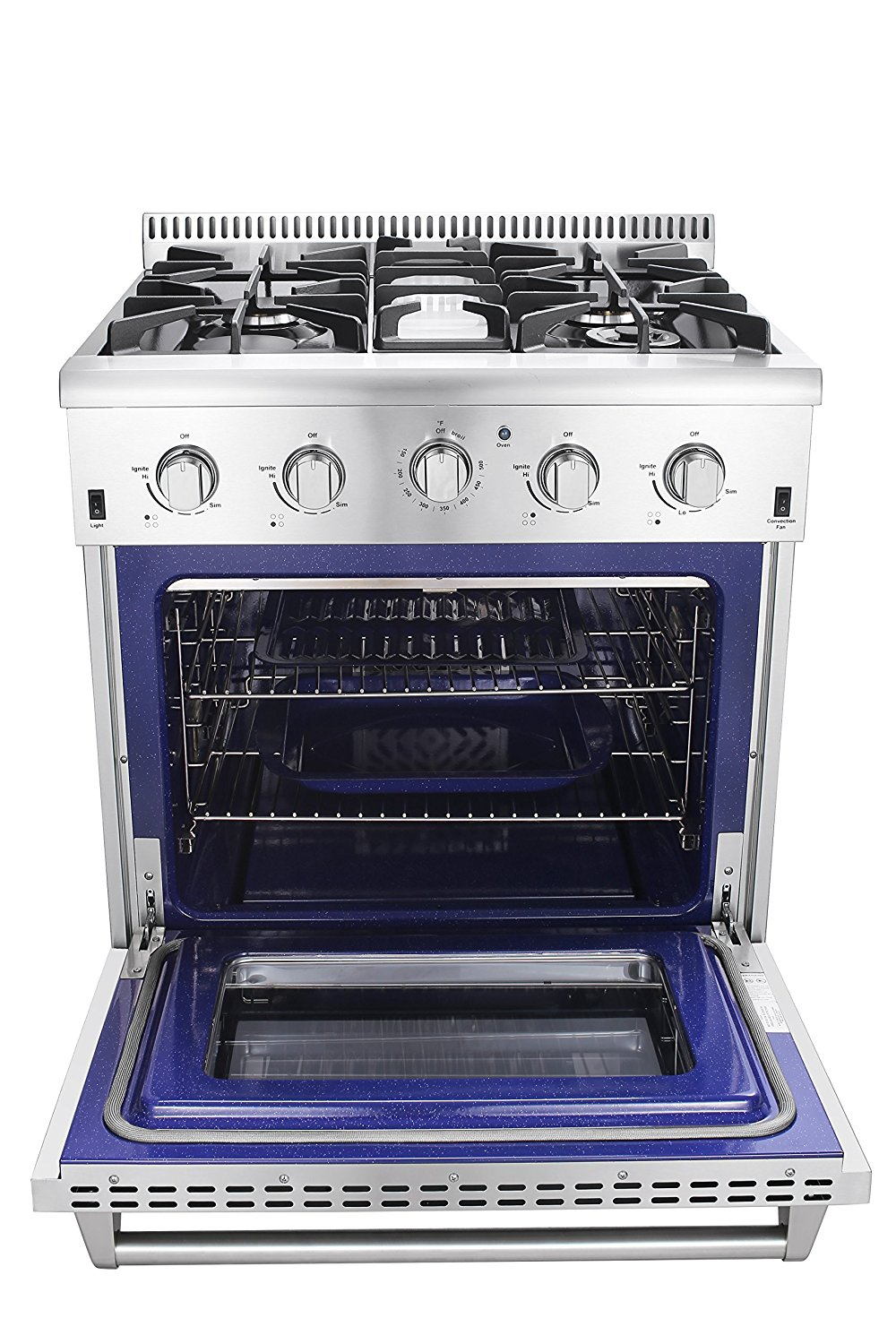 kitchen stove gas 30 in 4 2 cu ft stainless steel gas range with convection 750